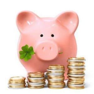 skarbonka świnka i monety