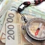 kompas na banknotach