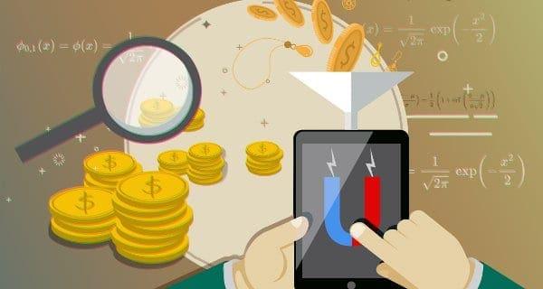 złote monety i magnez na ekranie tabletu